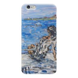 """Чехол для iPhone 6 """"Мечта"""" - красиво, море, дельфины, чайки, на яхте"""