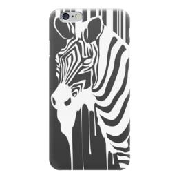 """Чехол для iPhone 6 """"Best art with you"""" - зебра, белый, черный, zebra, гармония"""