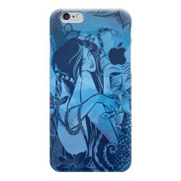 """Чехол для iPhone 6 """"Сад наслаждений"""" - девушка, эротика, иллюстрация, яблоко, соблазн"""