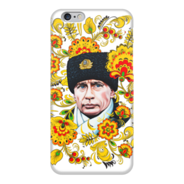 "Чехол для iPhone 6 ""Путин – Хохлома"" - любовь, москва, владимир, россия, патриотизм, политика, путин, президент, putin, общество"