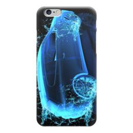 """Чехол для iPhone 6 глянцевый """"неоновое авто"""" - неон, авто, машина, вода"""