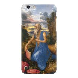 """Чехол для iPhone 6 """"Святой Иероним в пустыне"""" - картина, дюрер"""