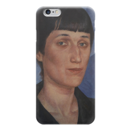 """Чехол для iPhone 6 """"Портрет Анны Ахматовой"""" - картина, петров-водкин"""