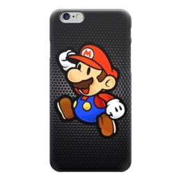 "Чехол для iPhone 6 глянцевый ""Марио (Mario)"" - mario, марио, mario bros, nintendo"