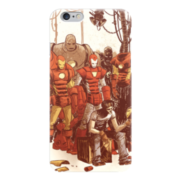 """Чехол для iPhone 6 """"Comics Art Series: Ironman"""" - рисунок, superhero, железный человек, тони старк, ironman"""