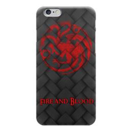 """Чехол для iPhone 6 """"Игра Престолов!!!"""" - герб, девиз, драконы, игра престолов, game of thrones"""