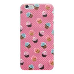"""Чехол для iPhone 6 глянцевый """"Кексы"""" - кексы, cupcakes, sweets"""