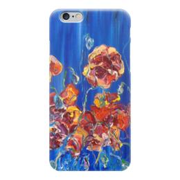 """Чехол для iPhone 6 """"Маковое настроение"""" - лето, night, ночь, красота, маки, blue, poppy, вечер"""