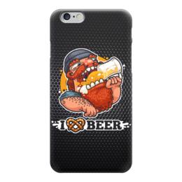 "Чехол для iPhone 6 глянцевый ""Я люблю Пиво (I love Beer)"" - пиво, beer, я люблю пиво"