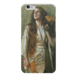 """Чехол для iPhone 6 """"Frau im Kimono mit Fächer und Blumen"""" - картина, нонненбрух"""