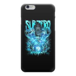 """Чехол для iPhone 6 """"Sub-Zero (Mortal Kombat)"""" - art, ниндзя, синий, боец, mortal kombat, sub-zero"""