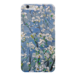 """Чехол для iPhone 6 глянцевый """"Весна"""" - счастье, сад, дерево, май, весна"""