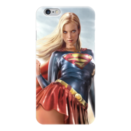 "Чехол для iPhone 6 ""Marvel"" - комиксы, supergirl, супергёрл, супер герл"