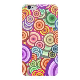 """Чехол для iPhone 6 """"Цветные круги"""" - узор, стиль, рисунок, абстракция, круги"""