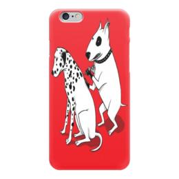 "Чехол для iPhone 6 ""Тату мастер"" - тату, собаки, бультерьер, далматин"