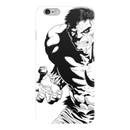 "Чехол для iPhone 6 глянцевый ""Халк (Hulk)"" - марвел, комиксы, мстители, hulk, avengers"