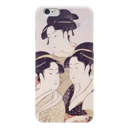"""Чехол для iPhone 6 глянцевый """"Три знаменитые красавицы (Китагава Утамаро)"""" - картина, утамаро"""