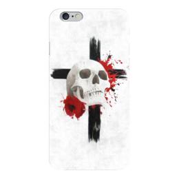 "Чехол для iPhone 6 ""Sweet dream"" - череп, клякса, крест, мак, треш"
