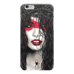"Чехол для iPhone 6 ""Поцелуй Паука"" - девушка, поцелуй, иллюстрация, паук"