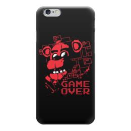 """Чехол для iPhone 6 глянцевый """"Пять ночей у Фредди (Five Nights at Freddy's)"""" - game over, пять ночей у фредди, five nights at freddy's"""