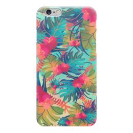 """Чехол для iPhone 6 """"Джунгли"""" - цветы, лес, растения, акварель, джунгли"""