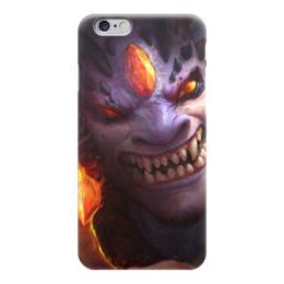 """Чехол для iPhone 6 глянцевый """"Лион """" - дота 2, вальв, dota 2, valve, lion"""