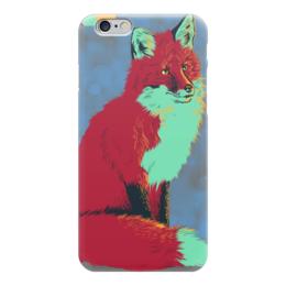 "Чехол для iPhone 6 ""Поп-Арт лисичка"" - арт, поп-арт, fox, лиса, лисичка"