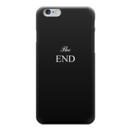 """Чехол для iPhone 6 глянцевый """"The end"""" - надпись, конец, завершение"""