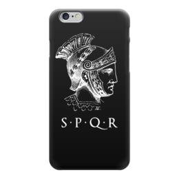 """Чехол для iPhone 6 глянцевый """"SPRQ: Legion"""" - история, путь воина, денис гесс, римская империя, sprq"""