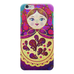"""Чехол для iPhone 6 """"МаТрёшка"""" - любовь, кукла, россия, сувенир, матрёшка"""