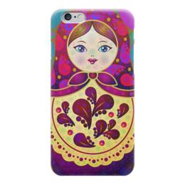 "Чехол для iPhone 6 глянцевый ""МаТрёшка"" - любовь, кукла, россия, сувенир, матрёшка"