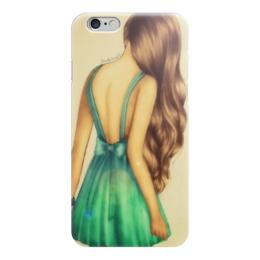 """Чехол для iPhone 6 """"Бирюзовая печаль"""" - арт, девушка, мило, уникально"""