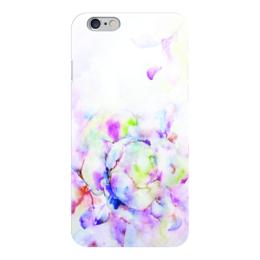 """Чехол для iPhone 6 """"Распускающаяся роза"""" - цветок, роза, нежность, розы, акварелью"""