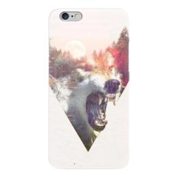 """Чехол для iPhone 6 """"Nightwolf"""" - солнце, закат, волк, волки, клыки"""