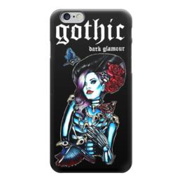"""Чехол для iPhone 6 глянцевый """"Gothic Dark Art"""" - готика, страх, ужас, кровь, blood, death, смерть, gothic, fear, тьма"""