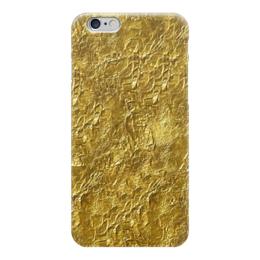 """Чехол для iPhone 6 глянцевый """"Золотая фольга"""" - gold, золото"""