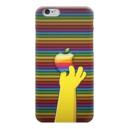 "Чехол для iPhone 6 ""Apple x Simpsons"" - яблоко, гомер симпсон, эпл"