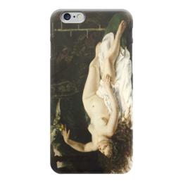 """Чехол для iPhone 6 """"Женщина с попугаем (картина Курбе)"""" - картина, курбе"""