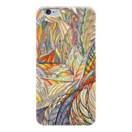 """Чехол для iPhone 6 """"Тропик"""" - графика, абстракция, тропики"""