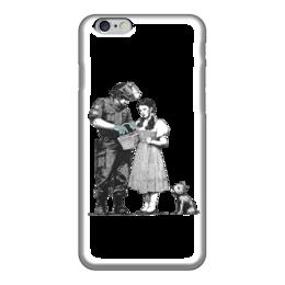 """Чехол для iPhone 6 """"Девочка и солдат"""" - banksy, бэнкси"""