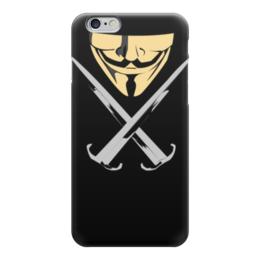 "Чехол для iPhone 6 ""Вендетта (Маска Гая Фокса)"" - маска гая фокса, вендетта, маска анонимуса, маска v"