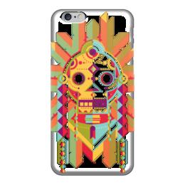 """Чехол для iPhone 6 """"Indian Skull"""" - череп, этно, индейцы"""