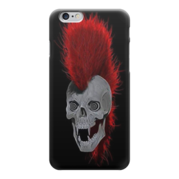 "Чехол для iPhone 6 глянцевый ""Punks Not Dead"" - punk, punk rock, панк, панк рок, рок музыка"