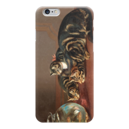 "Чехол для iPhone 6 ""Cats by a fishbowl"" - картина, коулдри"