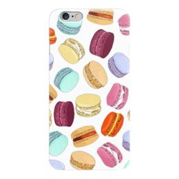 """Чехол для iPhone 6 глянцевый """"Пирожные """"Макарон"""""""" - еда, пирожные, вкусно, макаруны, печенье"""