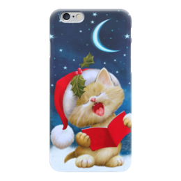 """Чехол для iPhone 6 """"Новогодний Котенок"""" - новый год, детям, кошки, 2016"""