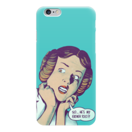 "Чехол для iPhone 6 ""Star Wars"" - фантастика, star wars, звездные войны, лея"