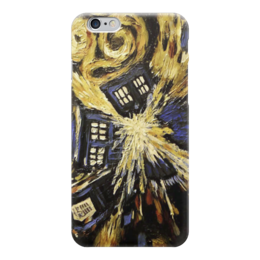 "Чехол для iPhone 6 глянцевый ""Тардис Ван Гога (Van Gogh Tardis)"" - машина времени, time machine, полицейская будка, doctor who, доктор кто"
