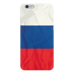 "Чехол для iPhone 6 ""Флаг России (Russia)"" - россия, russia, рф, триколор"