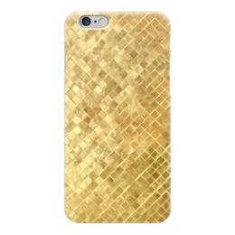 "Чехол для iPhone 6 глянцевый ""Золотая плитка"" - золотая плитка, gold, золото"